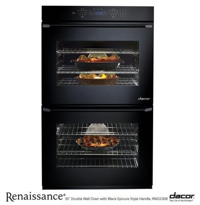 "Dacor RNO230B 30"" Double Wall Oven, in Black"