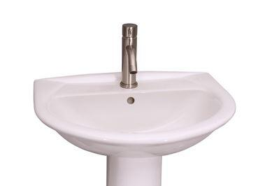 "Barclay B/3-30WH Karla Basin Only, with Pre-drilled Faucet Holes, Overflow, 7"" Basin Depth, and Vitreous China Construction, in White"
