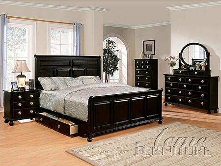 Acme Furniture 01780Q Amherst Series  Sleigh Bed