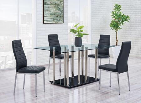 Global Furniture USA D368DT4D140DC D368 Dining Room Sets