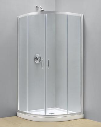 DreamLine SHEN-703 DreamLine Prime Clear Glass Frameless Shower Enclosure with Sliding Door and Chrome Finish