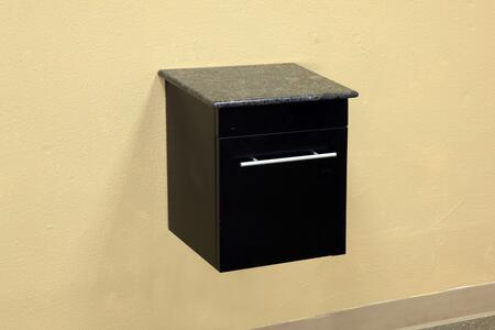 Bellaterra Home 203108CABINETX Solid Wood Wall Mount Side Cabinet - Black
