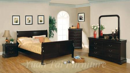 Yuan Tai 3778T-CHY Louis Philippe Series  Twin Size Sleigh Bed
