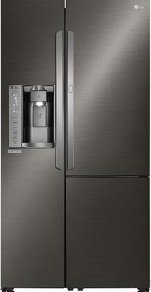 """LG LSXS26386x 36"""" Side-by-Side Refrigerator with 26.1 Cu.Ft. Capacity, Digital Temperature Controls, Multi-Air Flow, Smart Cooling, Door Alarm, LED Lighting, Water/Ice Dispenser, in"""