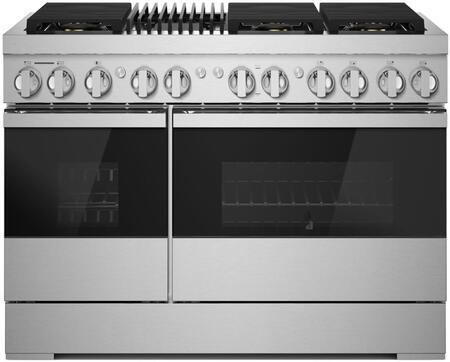 Jenn-Air NOIR JDRP648HM 48-INCH DUAL-FUEL PROFESSIONAL RANGE WITH GAS GRILL