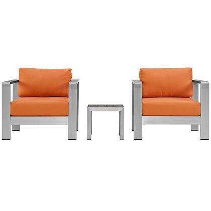 Modway EEI2599SLVORA Modern Square Shape Patio Sets