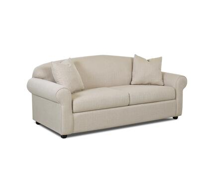 "Klaussner Possibilities Collection 500-S- 87"" Sofa with Rolled Arms, Two Arm Pillows and Polyester Fabric Upholstery in"
