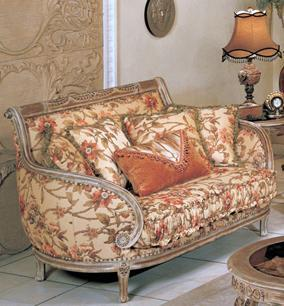 Yuan Tai OR1333L Orchard Series Fabric Loveseat with Wood Frame Loveseat