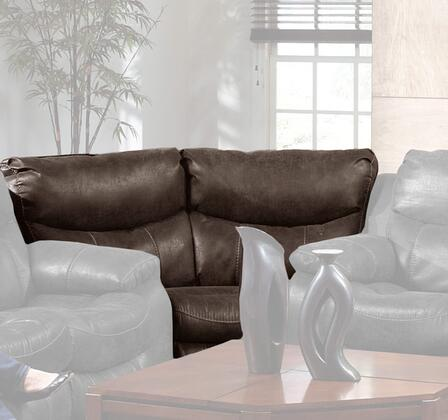Catnapper 4318122319302319 Catalina Series Bonded Leather Sectional with Metal Frame in Timber