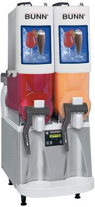 Bunn-O-Matic 34000050 Frozen Beverage Dispenser with Reversing Auger Technology, Powdered Autofill, 2 Large 2-Gallon Hoppers, Extended Handles and No Lube Design Faucets, in