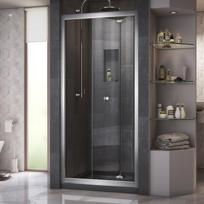 DreamLine Butterfly Shower Door Chrome Open Base Black