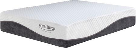 """Sierra Sleep 13 Inch Innerspring Collection M827 X Size Mattress with Luxurious Knit Cover, Removable Cover Included and 8"""" Pocketed Coil System in White"""