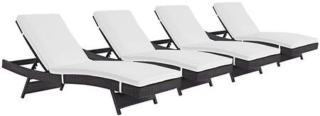 """Modway EEI2429EXPWHISET 110"""" Water Resistant Lounge Chair"""