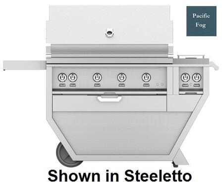 60 in. Deluxe Grill with Side Burner   Pacific Fog