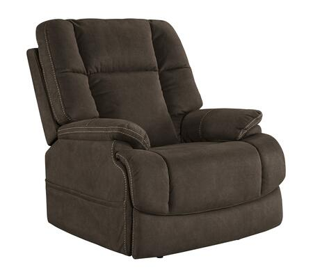 "Signature Design by Ashley Fourche Collection 6930X13 37"" Power Recliner with Polyester Upholstery, Tufted Back and Stitching Detail in"