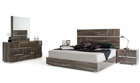 VIG Furniture VGACPICASSOSETGREYQ Modrest Picasso Series 5 Piece Bedroom Set