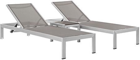 "Modway EEI2471SLVGRYSET 76"" Lounge Chair"