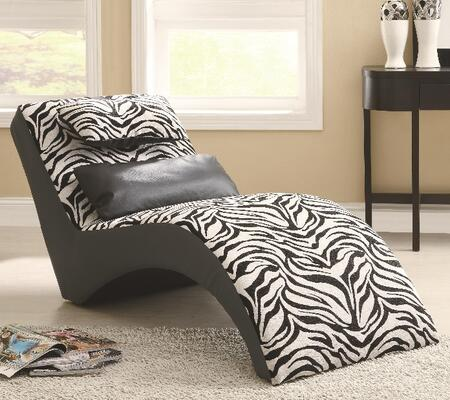 Coaster 550071 Accent Seating Series Contemporary Fabric Chaise Lounge
