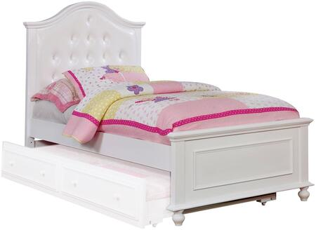 Furniture of America CM7155WHTBED Olivia Series  Twin Size Bed