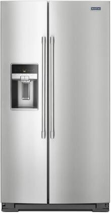 """Maytag MSC21C6MxZ 36"""" Side by Side Counter-Depth Refrigerator with 21 cu. ft. Capacity, LED Lighting, External Water and Ice Dispenser, in"""