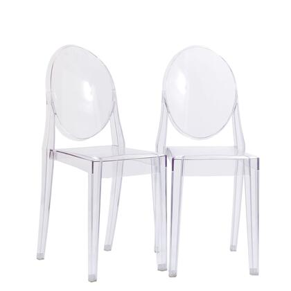 Modway EEI906CLR Casper Series  Plastic Frame Not Upholstered Patio Side Chair