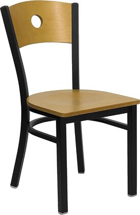 Flash Furniture XUDG6F2BCIRNATWGG Hercules Series Contemporary Not Upholstered Metal Frame Dining Room Chair