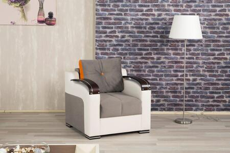 Casamode DIDECH Divan Deluxe Living Room Chair with Stitched Detailing, Curved Arms and Block Feet with Woodlike and Stainless Steel Accents