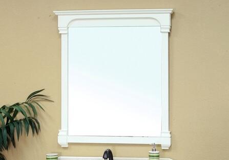 Bellaterra Home 205050MIRRORWH  Rectangular Portrait Bathroom Mirror