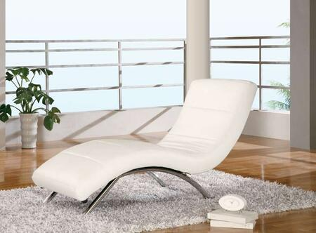 Global Furniture USA 820WH Modern  Chaise Lounge