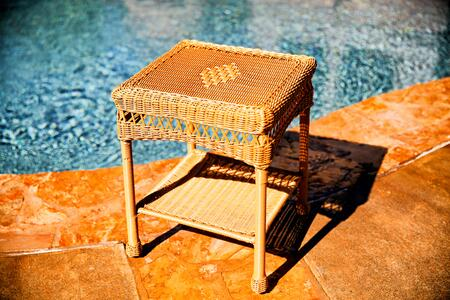 Tortuga PS-ST Portside Classic End Table With All-Weather Wicker & In