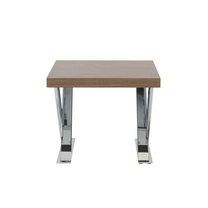 Euro Style 28058WAL Anika Series Contemporary Square 0 Drawers End Table |Appliances Connection