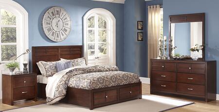 New Classic Home Furnishings 00060QSBDMN Kensington Queen Be