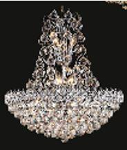 "J & P Crystal Lighting Firework Collection 99005D28 28"" Wide Chandelier in X Finish"
