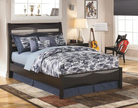 Ashley Kira Collection B473-PANELBED Size Panel Bed: Black