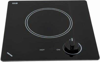 "Kenyon B41696 12"" Caribbean Series 1 Element Electric Cooktop, in Black"
