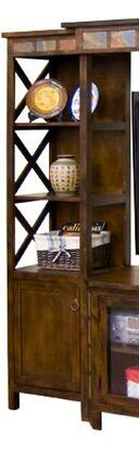 Sunny Designs 3416DCPLSanta Fe Series Wood 1-2 Shelves Bookcase