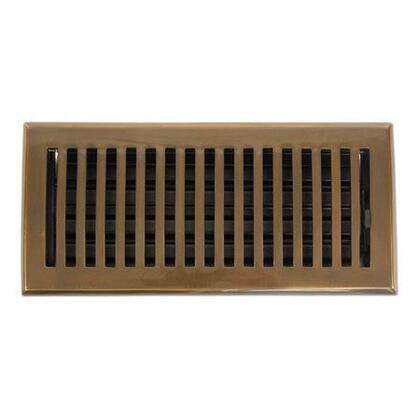 Brass Elegans 116C 2 1/4 Contemporary Series Solid Brass Decorative Floor Register Vent