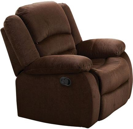 Acme Furniture 51032 Bailey Series Transitional Velvet Wood Frame  Recliners