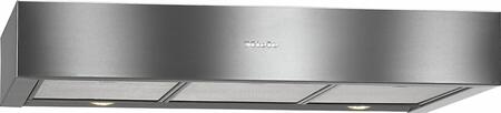 Miele DA11 Built-In Under Cabinet Hood with 400 CFM Blower, 10-ply Stainless Steel Grease Filters, Intensive Mode, and Halogen Lighting, in Stainless Steel
