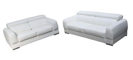 Diamond Sofa CHICAGOSLW Contemporary Bonded Leather Living Room Set