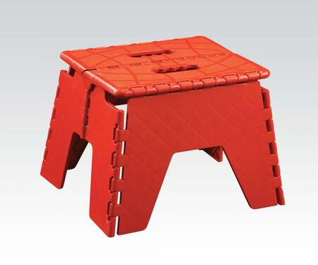 "Acme Furniture 960 Stern 9"" Foldable Step Stool with Built-In Handle, High-Impact Plastic and Folds Flat for Storage in"