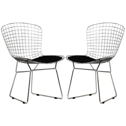 Modway EEI925BLK CAD Series Modern Not Upholstered Metal Frame Dining Room Chair
