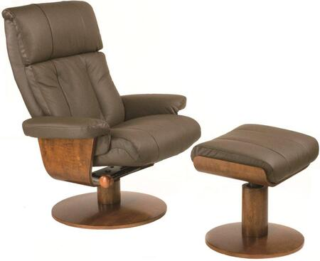 Mac Motion NORFOLK33103 Oslo Series Contemporary Leather Wood Frame  Recliners