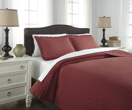 Signature Design by Ashley Alecio 3 PC King Size Quilt Set includes 1 Quilt Set and 2 Standard Shams with Stone Washed Diamond Quilted Design and 200 Thread Count Cotton Material in Color