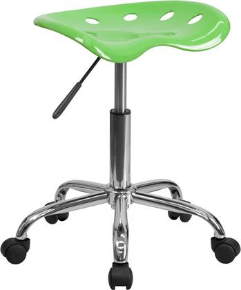 "Flash Furniture LF-214A-XX-GG 20.25"" Vibrant Tractor Seat and Chrome Stool with High Density Polymer Construction, 5.5"" Height Range Adjustment, Chrome Frame and Base, and Dual Wheel Carpet Casters"