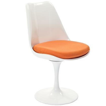 Modway EEI115ORA Lippa Series Modern Fabric Plastic Frame Dining Room Chair