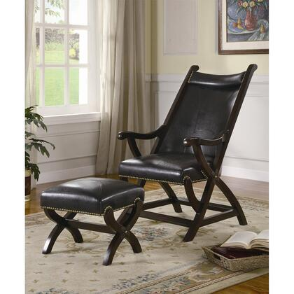 Coaster 900260 Lounge Bonded Leather Wood Frame Accent Chair