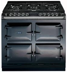 AGA A64NGBLK Six-Four Series Dual Fuel Freestanding Range with Sealed Burner Cooktop, 4.5 cu. ft. Primary Oven Capacity, in Black