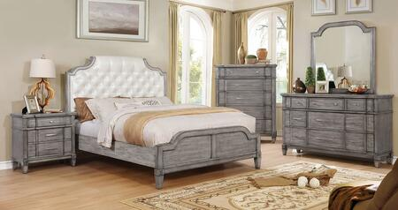 Furniture of America CM7856QBEDSET Ganymede Queen Bedroom Se