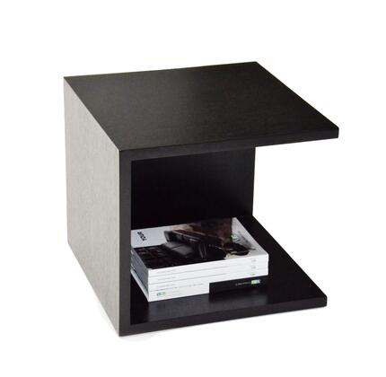 "VIG Furniture VGGU846ET Modrest 20"" Wide Square End Table with Stylish Cube Design and Two-Tier Construction in High Gloss"